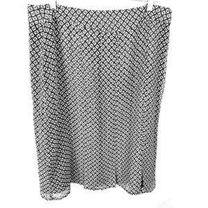 Worthington Women Black White Lined Size 14 Skirt